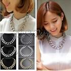 New Fashion Aluminium Plated Link Chain Bib Choker Chunky Celebrity Necklace