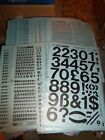 dd. NOS Letraset Lettering 10 x 15 Sheet Various Fonts Sizes Use Drop-Down Box