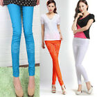 Colorful Women Skinny Jeggings Stretchy Sexy Pants Soft Leggings Pencil Tights