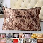 1pc 16mm Pure Silk Printed Pillow Case Standard Queen Travel Baby Cushion Cover