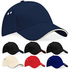 Baseball Cap Golf Caps Cotton Sandwich Peak Casual Sun Shade Hat by Beechfield