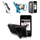 STYLISH SLIM DESK STAND CASE FITS APPLE IPHONE 4S 4 + FREE HARD PORT HARD COVER