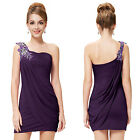 Ever Pretty Sexy One Shoulder Mini Cocktail Party Club Dresses 03594 Size 6-18