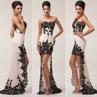 2014 Sexy Lace Celeb Chiffon Bridesmaid Evening Dress Banquet Formal Prom Gowns
