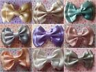"""NEW SMALL CUTE HANDMADE PALE SATIN 3"""" BOW HAIR CLIP VINTAGE RETRO STYLE GLAMOUR"""