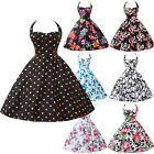 Vintage 1950s 60s Halter Pinup Swing Women's graduation Prom Dresses