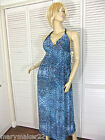 NWT-$48 IN BLOOM by JONQUIL NIGHTGOWN/BLUE MAXI DRESS S/M/XL LOUNGE BEACH WEAR