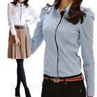 Fitted Business Long Sleeve Shirt Work Blouse Smart Career Top Size 6 8 10 12