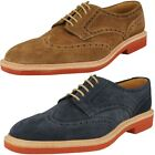 Mens Loake suede brogue lace up shoe LOGAN OILED SUEDE F fitting
