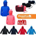 Regatta Kids Packaway Rainpak Waterproof Pac-a-Mac Jacket Boys Girls Outdoors