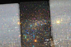 One Yard 24Row AB Sparkle Rhinestone Trim Black/White/Clear Setting SS12 3mm