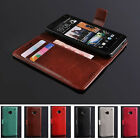 HOT Luxury Slot Wallet Stand Flip Leather Case Cover For HTC ONE M7