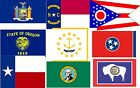 Flags of the U.S. states America , *N-W*   A5 or A4. iron on T-shirt Transfer
