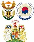 National Emblems and Royal Coat of Arms A5 or A4. iron on T-shirt Transfer *S-U*