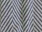 "Wool blend fabric brown/black gray/black herringbone heavy plush soft 1/2y x60""w"
