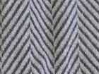 "Mostly wool fabric gray/black herringbone heavy plush soft 1/2 yd x 60"" wide"