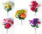 Artificial Flowers Gerbera Chrysanthemum Carnation Posy Bouquet Silk