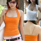 Sexy Halter Neck Vest Tank Top Cami Casual Slim Sleeveless Summer T-Shirt Blouse