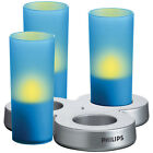 Philips 3PC Imageo Colored LED Rechargeable Flameless Candle Lights Night Lamp