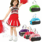Sporty Girls Kid Gymnastic Cheer Nylon Dance Half Moon Bag Laser Sequined Silver