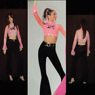 LOVE THAT GIRL Bell Bottom Pants & Tie Dye Top Dance Costume Adult Small to AXL