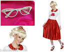 1950s GREASE SANDY OFFICIAL CHEERLEADER RYDELL FANCY DRESS COSTUME 12 14 1970's