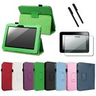 """For Amazon Kindle Fire HD 7"""" PU Leather Folio Case Cover/Stylus/Screen Protector"""