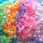 1000 Crystal Flat Back Iridescent Resin Rhinestones Gems Jelly AB 3mm or 4mm