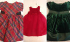 GYMBOREE 3-6 6-12 2T Holiday Celebrations Plaid Green or Red Dress Choice NWT