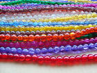 Crackle glass beads TWO sizes -  4mm and 10mm