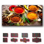 ' Spice Spicy Chilli Pepper Resturant Deco ' Canvas Kitchen Art Wall Box ~ 1 Pc