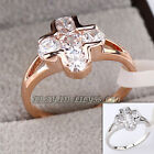B1-R683 Fashion Cross Ring 18K GP use Swarovski Crystal