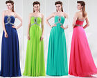 HOT SALE Strapless Chiffon Long Formal Evening Gowns Prom Party Bridesmaid Dress