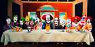 Clowns Last Supper POSTER FRAMED ON CANVAS & MOUNTED