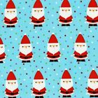 CANDY CLAUS - TURQUOISE - MICHAEL MILLER COTTON FABRIC Father Christmas Santa