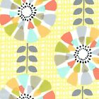 PETAL PINWHEELS - YELLOW PASTELS - MICHAEL MILLER COTTON FABRIC fashion print