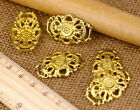 Brass Filigree Connector Embellishment Brass Wrap Finding 30x20mm b43 PICK