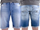 Voi Jeans SS14 Norton 026 New Mens Designer Light Wash Blue Denim Roll Up Shorts