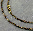 Antique Bronze Chain Knurled Link Cable Chain Necklace 2.5mm cn220b