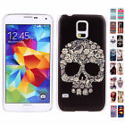 Hot Fashion Pattern Transparent Frame Hard Case Cover Skin For Samsung Galaxy S5