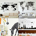 DIY Large World Map Removable Wall Sticker Decal Mural Art Home Child Room Decor