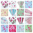 NEW 100% COTTON vintage  FLORAL FABRIC MATERIAL by the metre