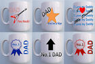 PERSONALISED DAD CERAMIC MUGS - FATHERS DAY, BIRTHDAY, CHRISTMAS GIFT