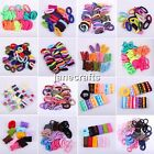 24-100pcs Girls Elastic Hair Ties Band Rope Ponytail Holders Bracelets Scrunchie