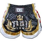 BLACK DUO KING PRO MUAY THAI RINGSPORT KICKBOXING FIGHTING SHORTS PANTS