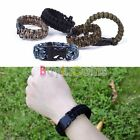Self-rescue Paracord Parachute Cord Whistle Buckle Survive Bracelet 8617 BAAU