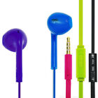 Color Earphone Handsfree Mic Remote Earpods for iPod iPad iPhone 4 5 5S Mini Air