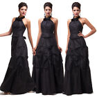 Long Taffeta Backless Bridesmaid Wedding Party Ball Gown Formal Evening Dresses