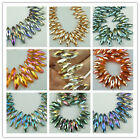 Lovely Bicone 8x25mm  Faceted Glass Crystal Loose spacer Beads color chioce