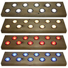 Woodside Set Of 10 40mm LED Decking Deck Plinth Lights Stainless Steel